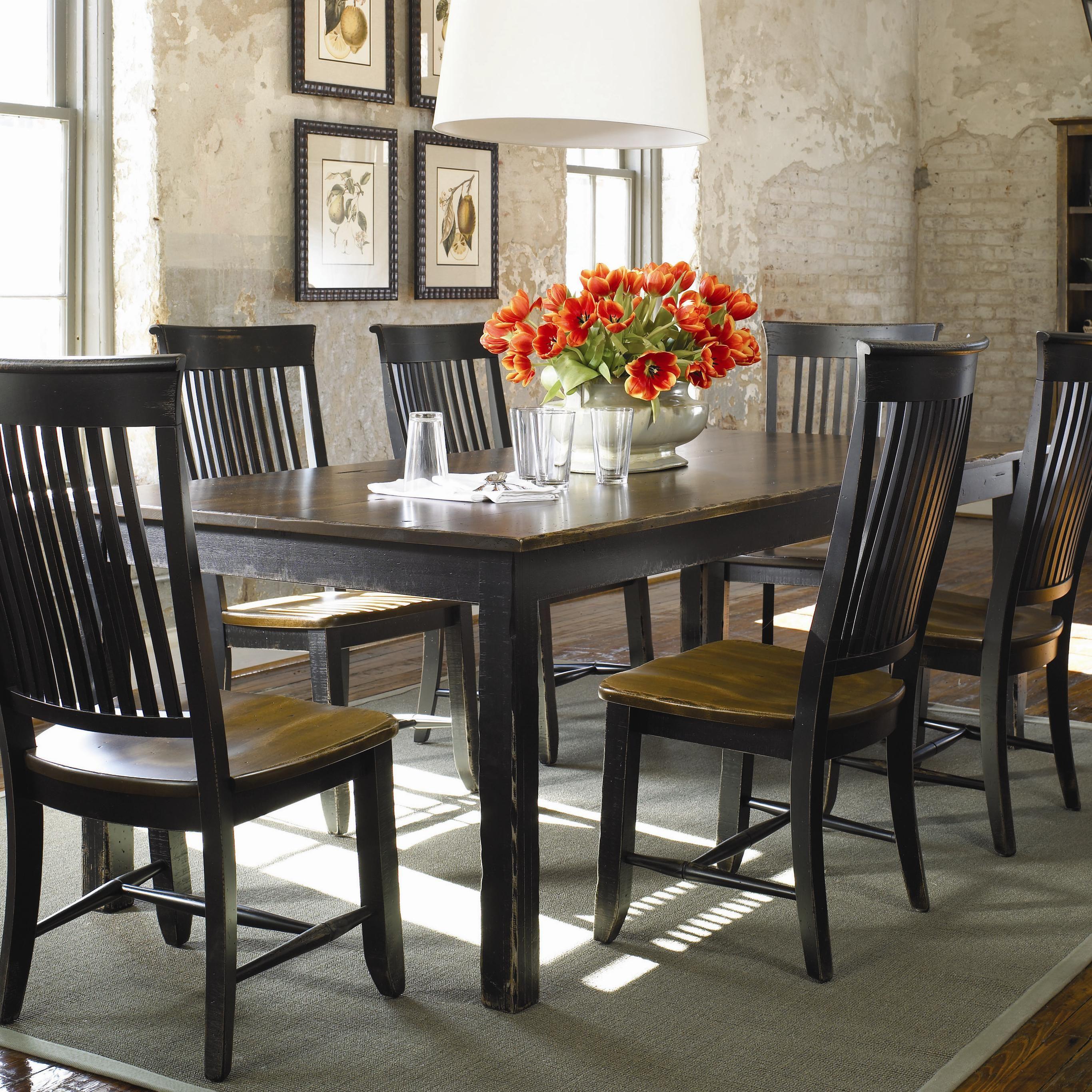Color Café Custom Dining Customizable Rectangular Table