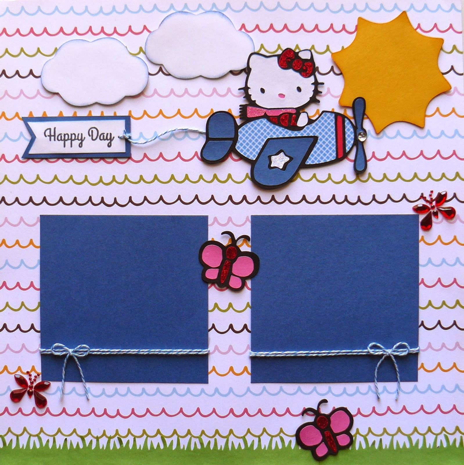 Scrapbook ideas hello kitty - Scrappin Dhilly Hello Kitty Greetings
