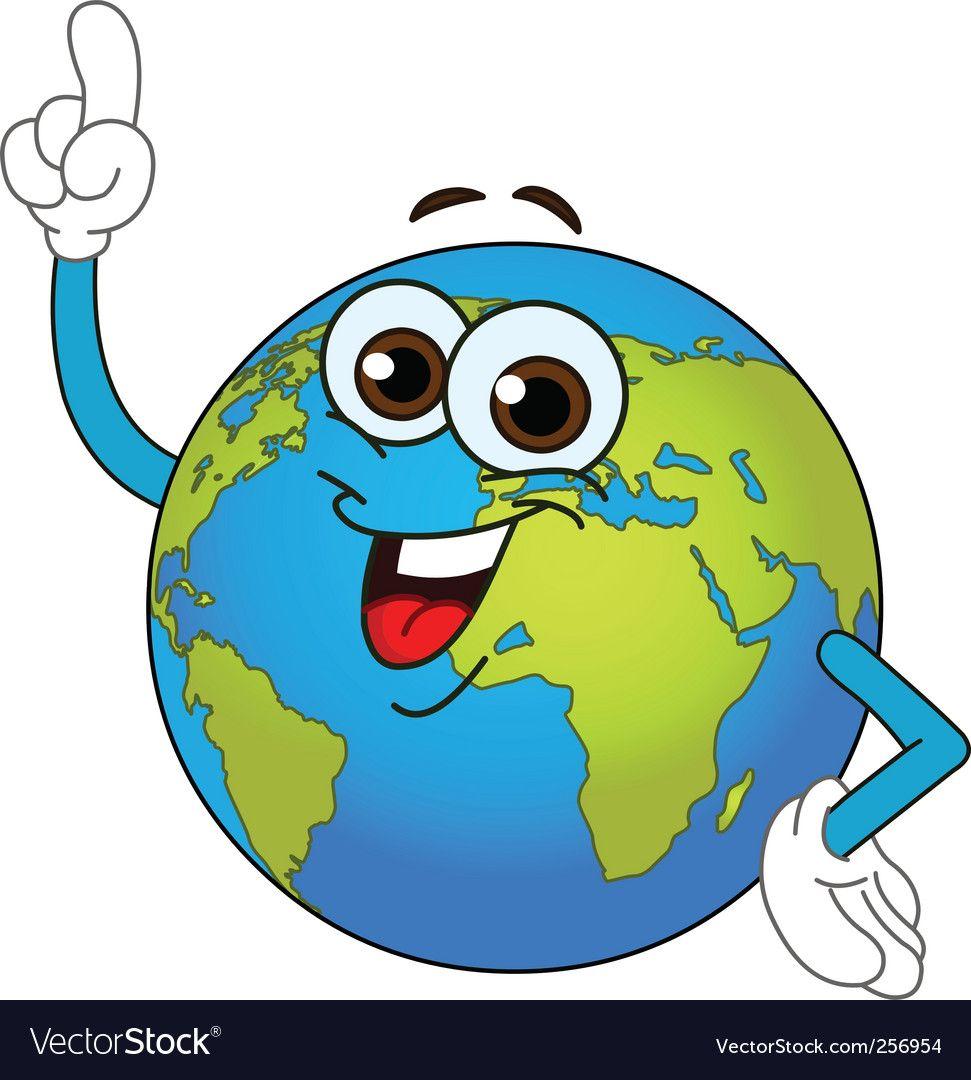 World Globe Cartoon Vector Image On Cartoon Science Drawing