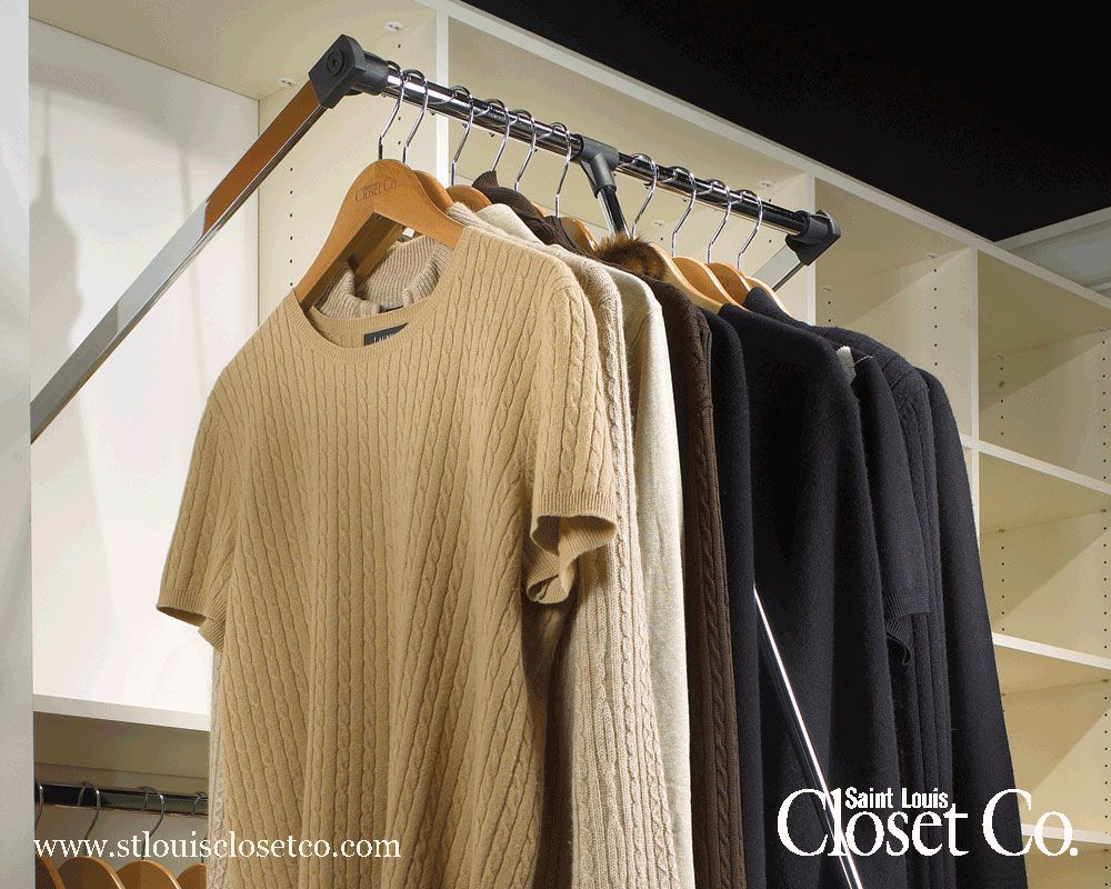 Metal Closet Rods Pulldown Rods  A Total Must  Closets & Dressing Rooms  Pinterest