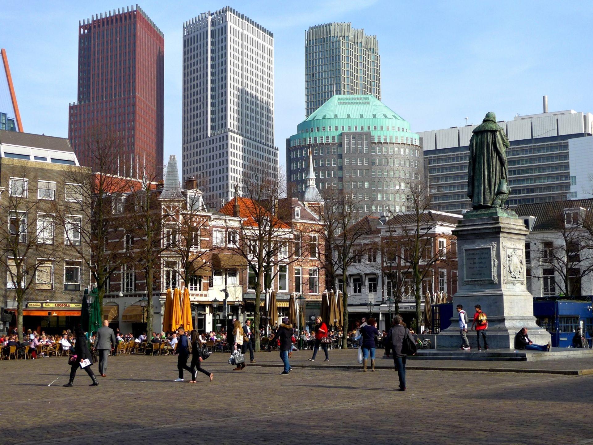 Den Haag centrum Het Plein Den haag, Nederland en Holland