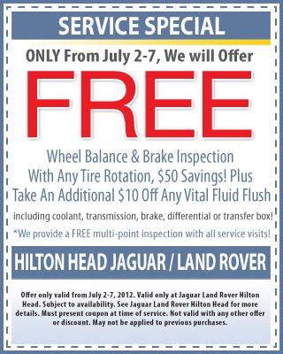 Service Coupon Land Rover 888 897 8274 Land Rover Auto Service Brake Inspection
