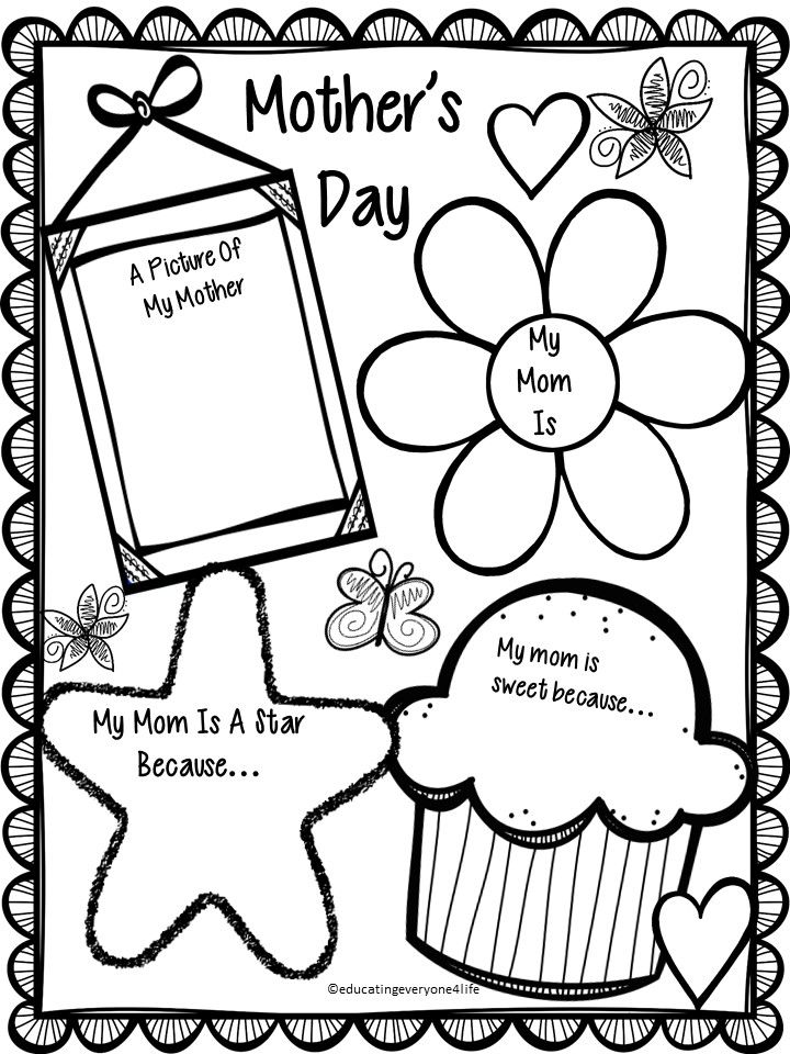Mother S Day Coloring Worksheet : Free mother s day activity happy students