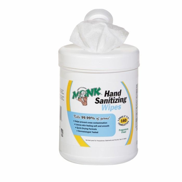 Hand Sanitizing Wipes Canister Of 160 Wet Wipes Wet Wipe