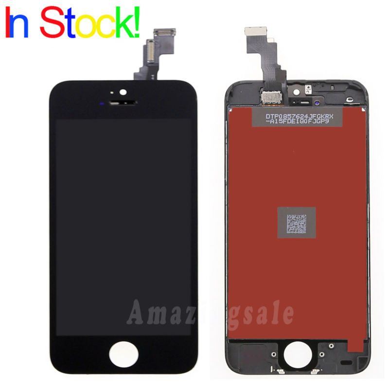 Replacement Black Touch Screen Digitizer + Lcd Display Assembly For Iphone 5c