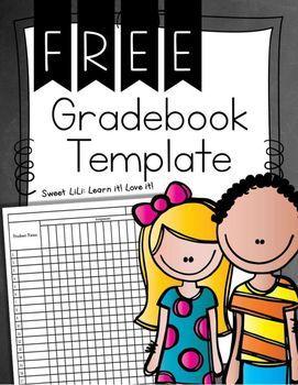 free gradebook template beginning school pinterest grade book