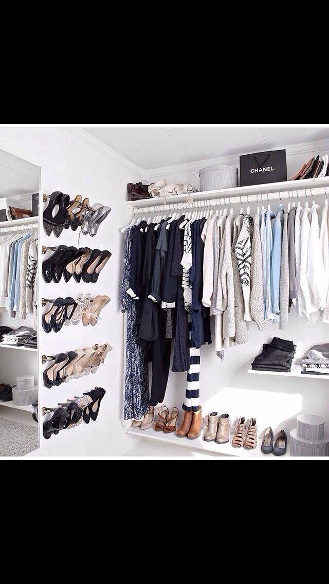 Skoopbevaring i klædeskab