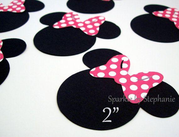 Minnie Mouse Heads with Pink Polka Dot Bow by sparklebystephanie