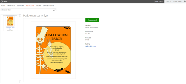 free halloween templates cute printable halloween skeleton party flyer template for microsoft word