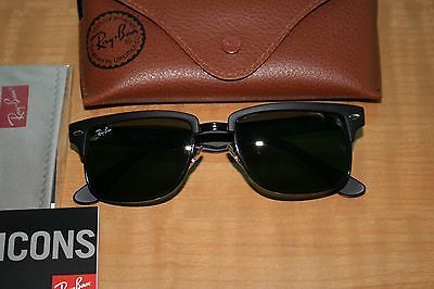 d334199b86 Ray Ban RB4190 877 Matte Black Squared Clubmaster Sunglasses EXCELLENT  CONDITION