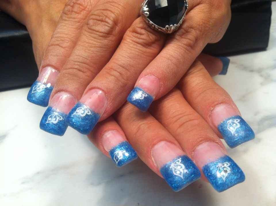Angel love polygel nails gel nail art gel nails how