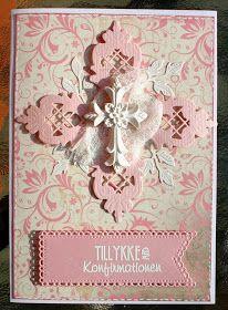 Riddersholm Design: Konfirmationskort til piger