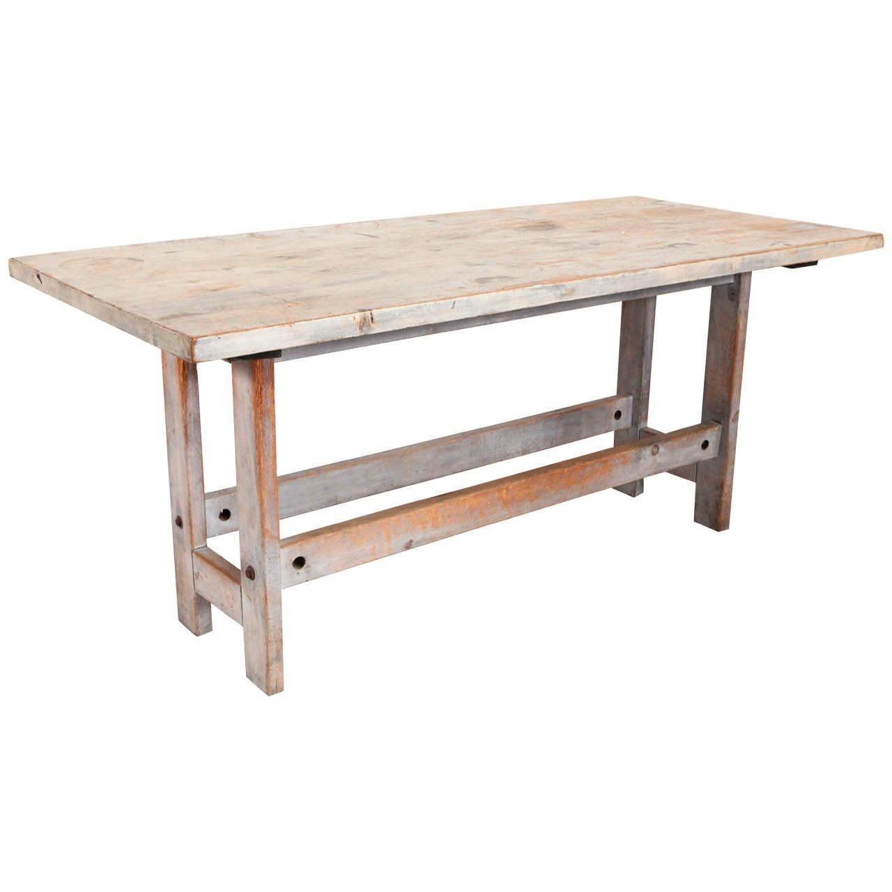 Rustic Grey Wash Farm Table From a unique collection of