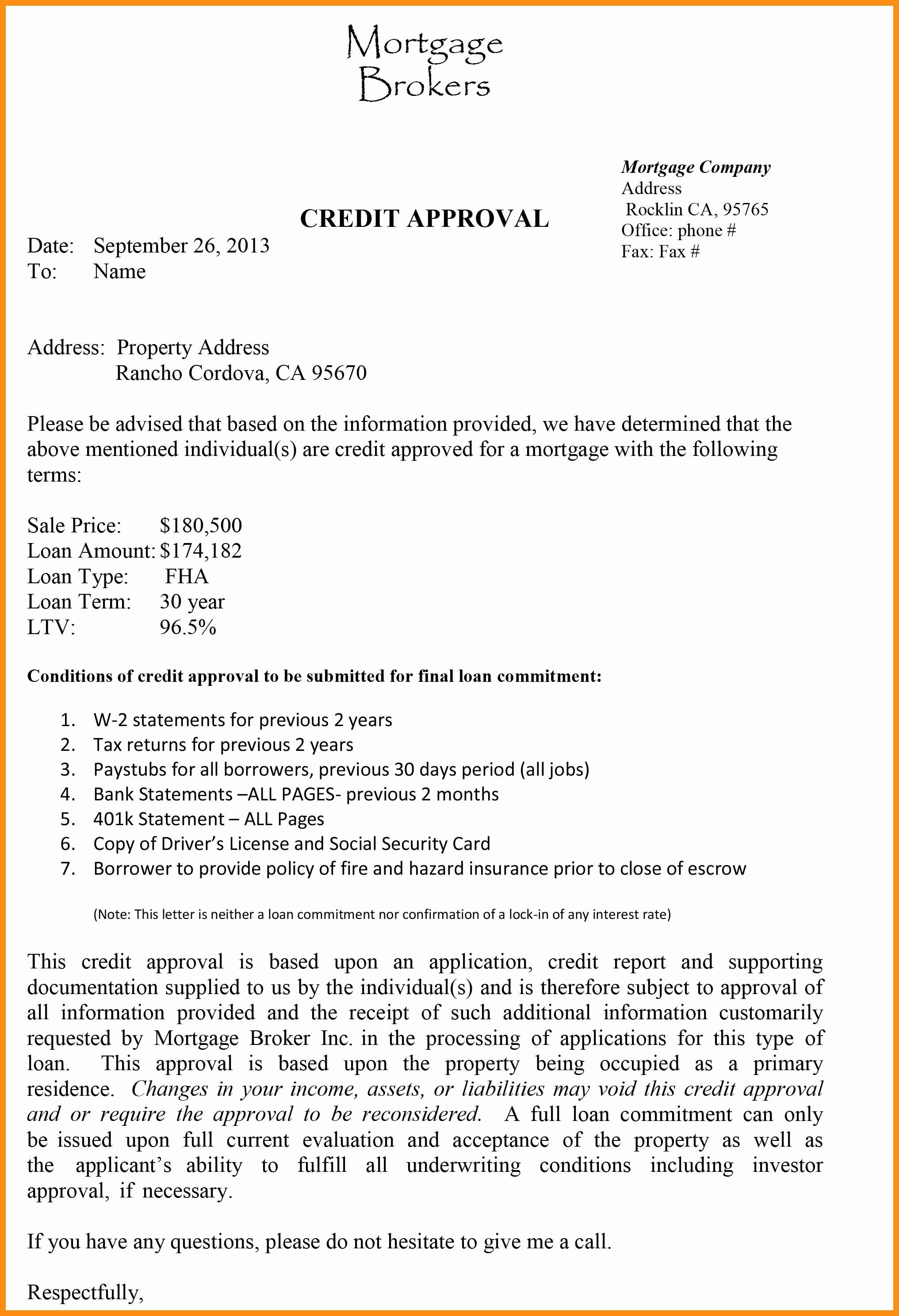 Mortgage Pre Approval Letter Template In 2020 Preapproved