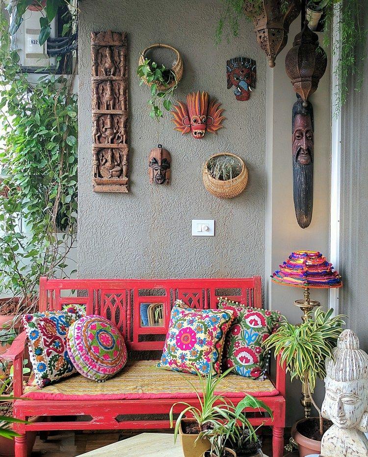 Diy Bohemian Decor: DIY Lampshade From Fabric Scraps