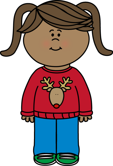 Free Christmas Sweater Clip Art From Mycutegraphics Com Illustrations Kids Clip Art Kids Clipart