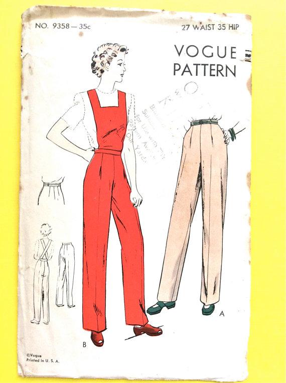 Pin On 1930s Pants Patterns