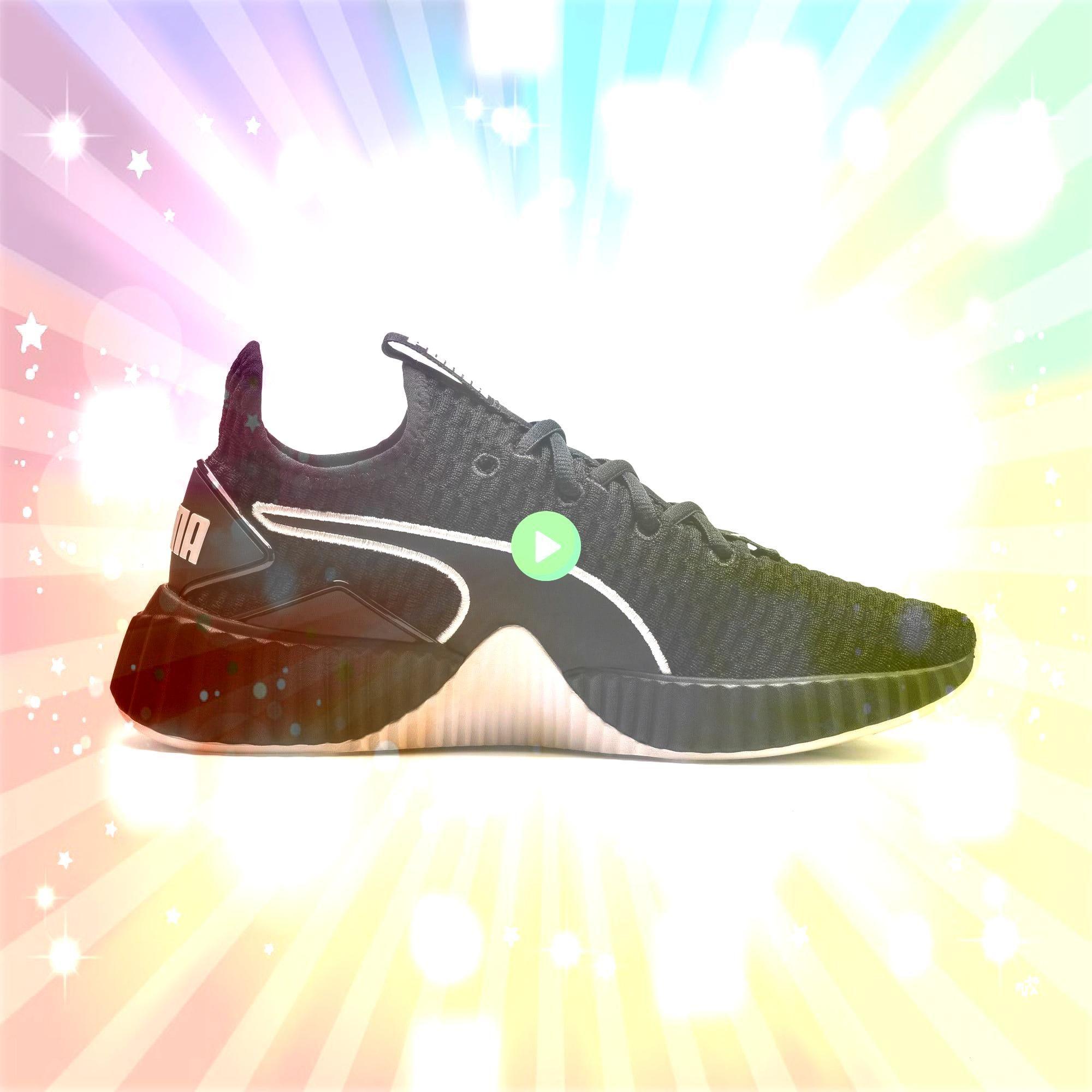 Defy Womens Trainers in BlackPastel Parchment size 35 PUMA Defy Damen Sneaker in Schwarz  Pastell Pergament Größe 35PUMA Defy Womens Trainers in BlackPastel Pa...