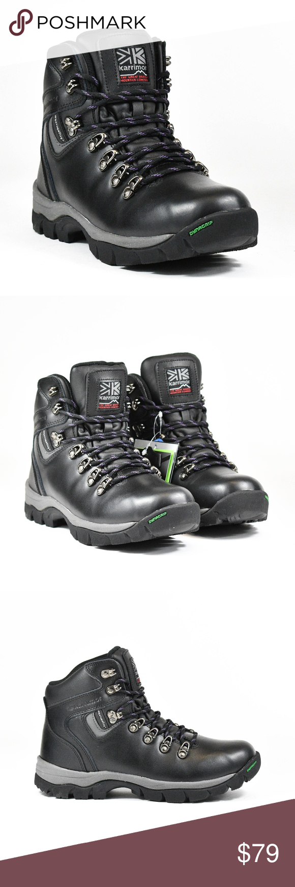 Karrimor Mens Skiddaw Walking Boots Breathable Waterproof Leather Upper Pattern