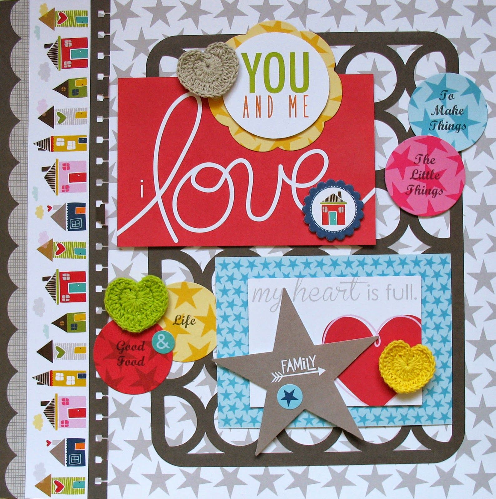 I Love by Kathy Martin for #Bella Blvd. using the Family Forever and Lucky Starz collections.