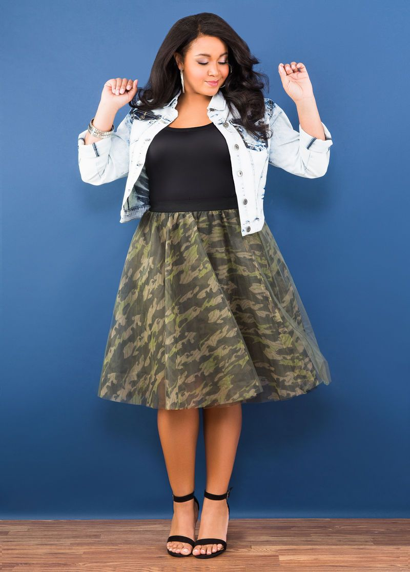 Camo Tulle SkirtCamo Call | Fashion | Plus size outfits, Trending ...
