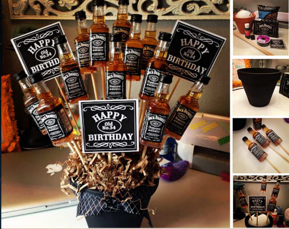 jack daniels booze bouquet whisky pinterest. Black Bedroom Furniture Sets. Home Design Ideas