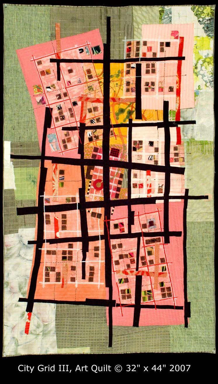 An art quilt . . . Maps. (Valorie Goodwin)