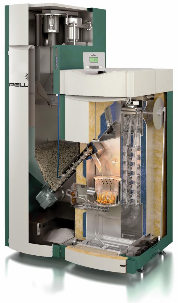 Wood Pellet Boiler >> Pellergy Alpha Wood Pellet Boilers Cut Away Masonry Heater
