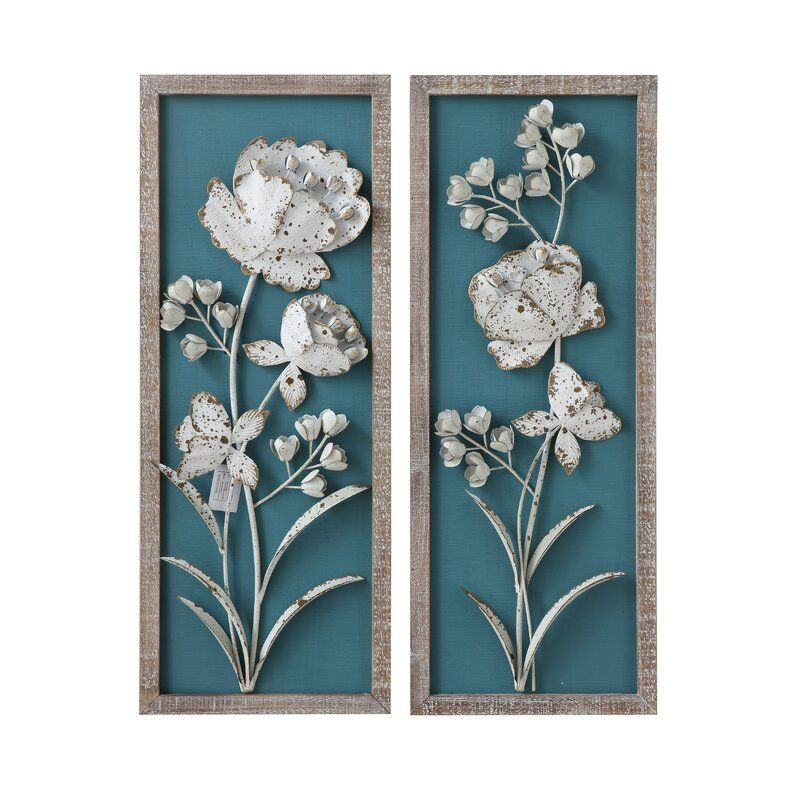 Top 10 Must See Metal Floral Wall Decor Sets Of 2020 Home Wall Art Decor Metal Wall Flowers Metal Flower Wall Decor Floral Wall Art