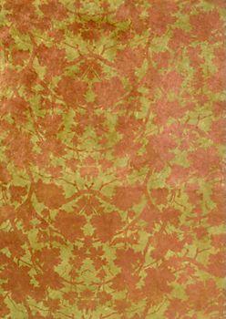 Lokta Copper Leaves on Olive Fine Paper by Paper Source