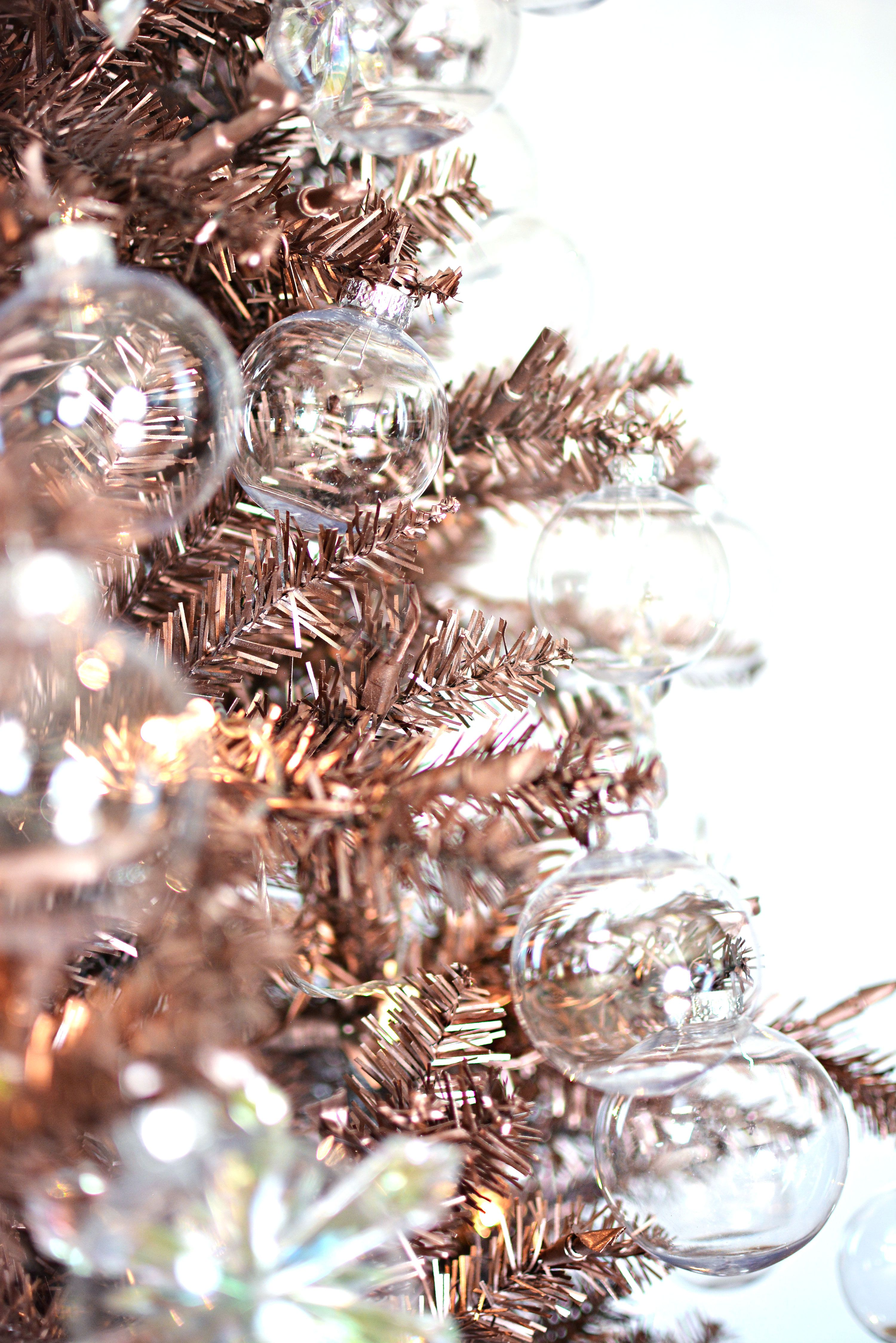 Rose Gold Christmas Tree We Have This Color Tree Ive