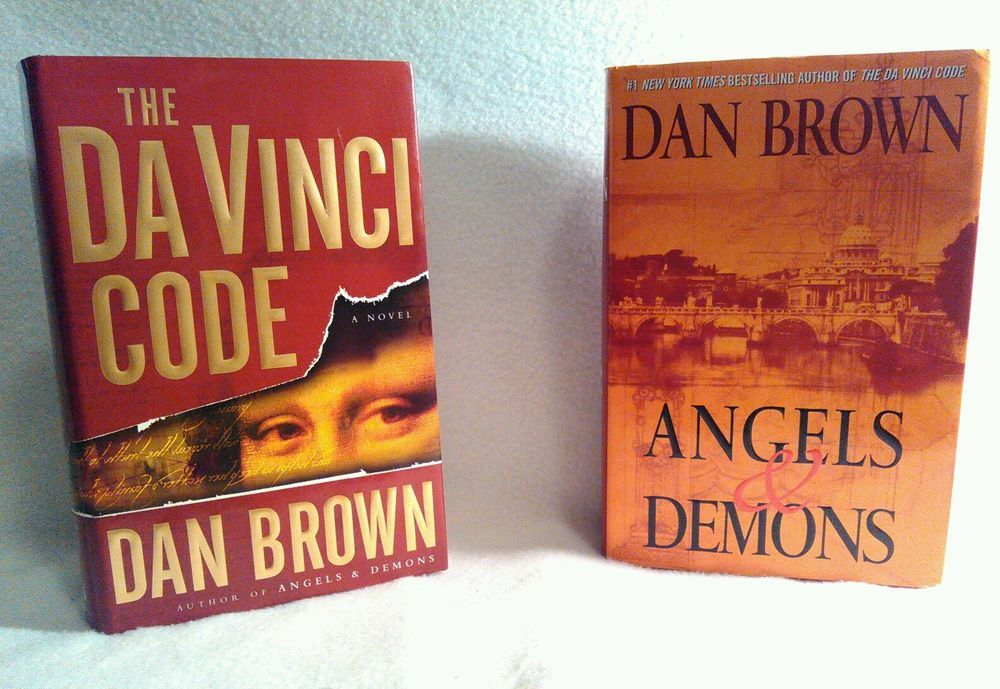 Dan Brown 2 Book Collection The DaVinci Code AND Angels Demons Hardcover Set