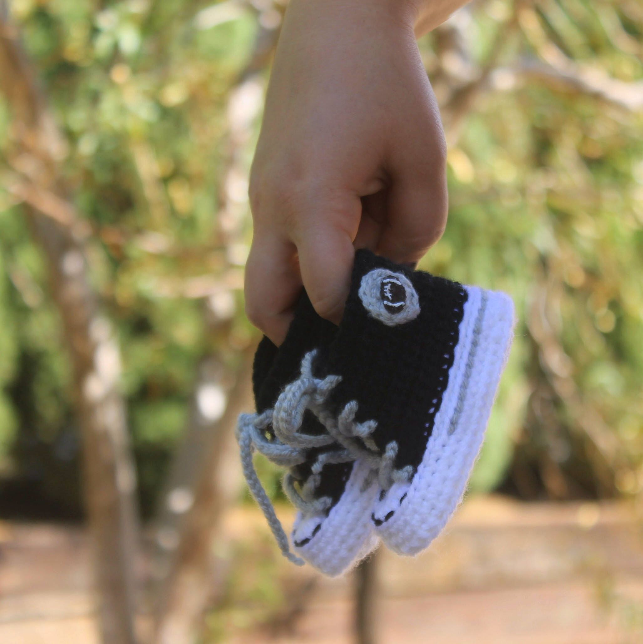 Baby FOOTBALL shoes Crochet Baby SHOES Oakland Raiders inspired