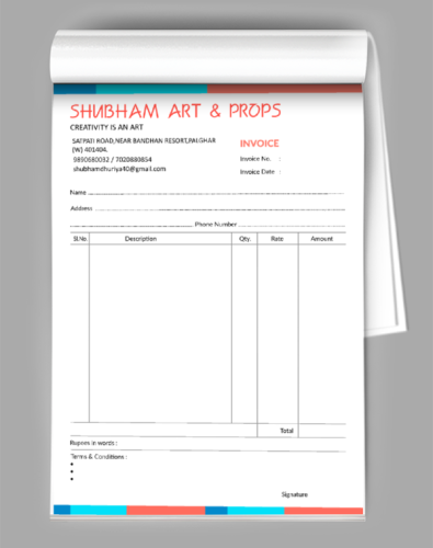 Professional Bill Book Design Book Design Templates Book Design Invoice Design