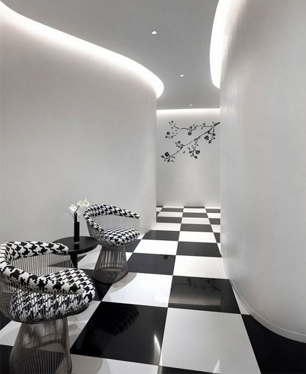 Gorgeous Black And White Boutique Hotel In Singapore White
