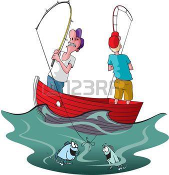Cartoon Fishing Vector Cartoon Of Two Tangled Up Fishermen Cartoon Fish Cartoon Free Cartoons