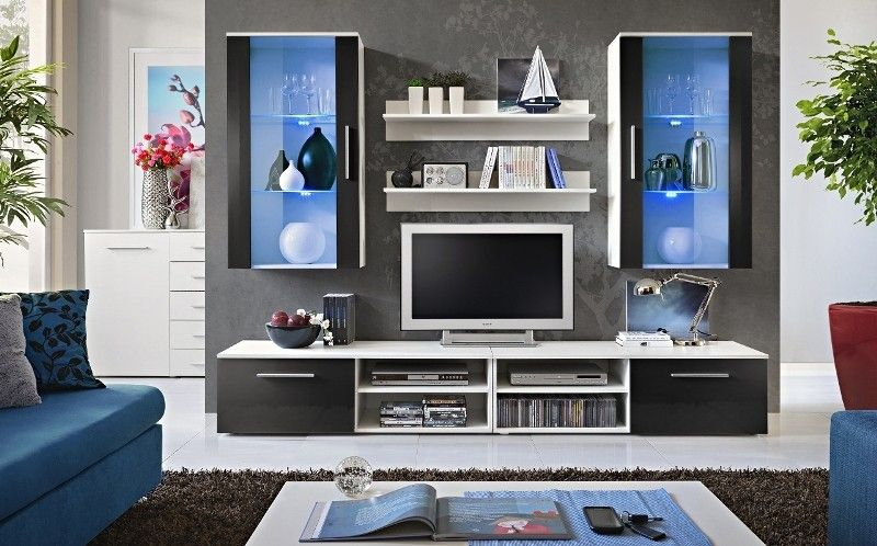Entertainment Wall Units Entertainment Unit Solid Wood