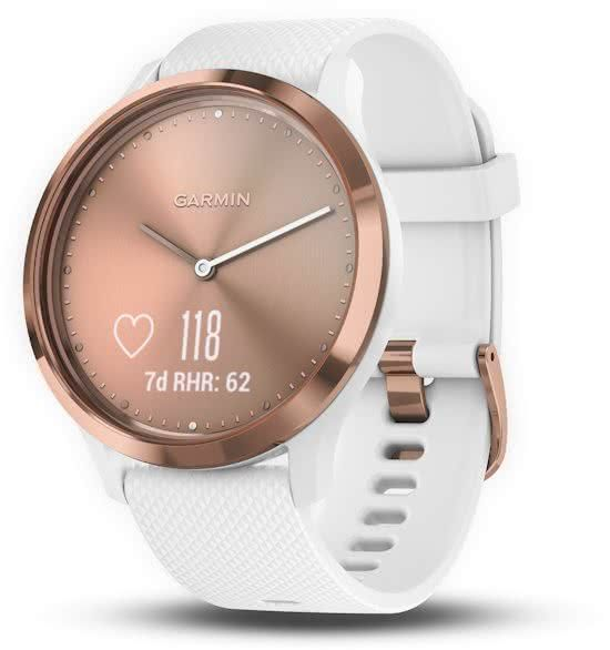 Garmin Vivomove HR - Hybride Smartwatch - Roségoud wit - Small ... a13b0d89c6