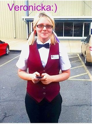 Veronicka prater a new employee at the dyersburg carmike cinema - employee uniform form