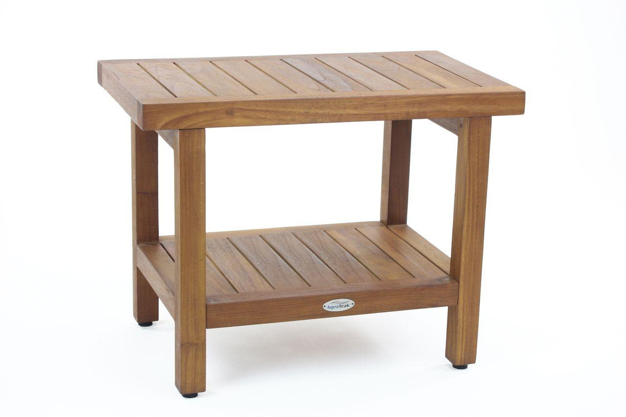 The Original 24 Spa Teak Shower Bench With Shelf Wood Shower Bench Teak Shower Stool Teak Wood