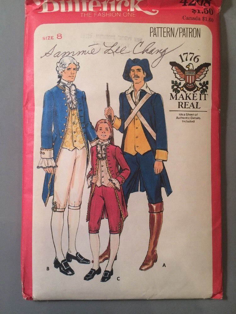 Butterick 4208, Boy's Military and Statesman Costume, Pattern Size 8