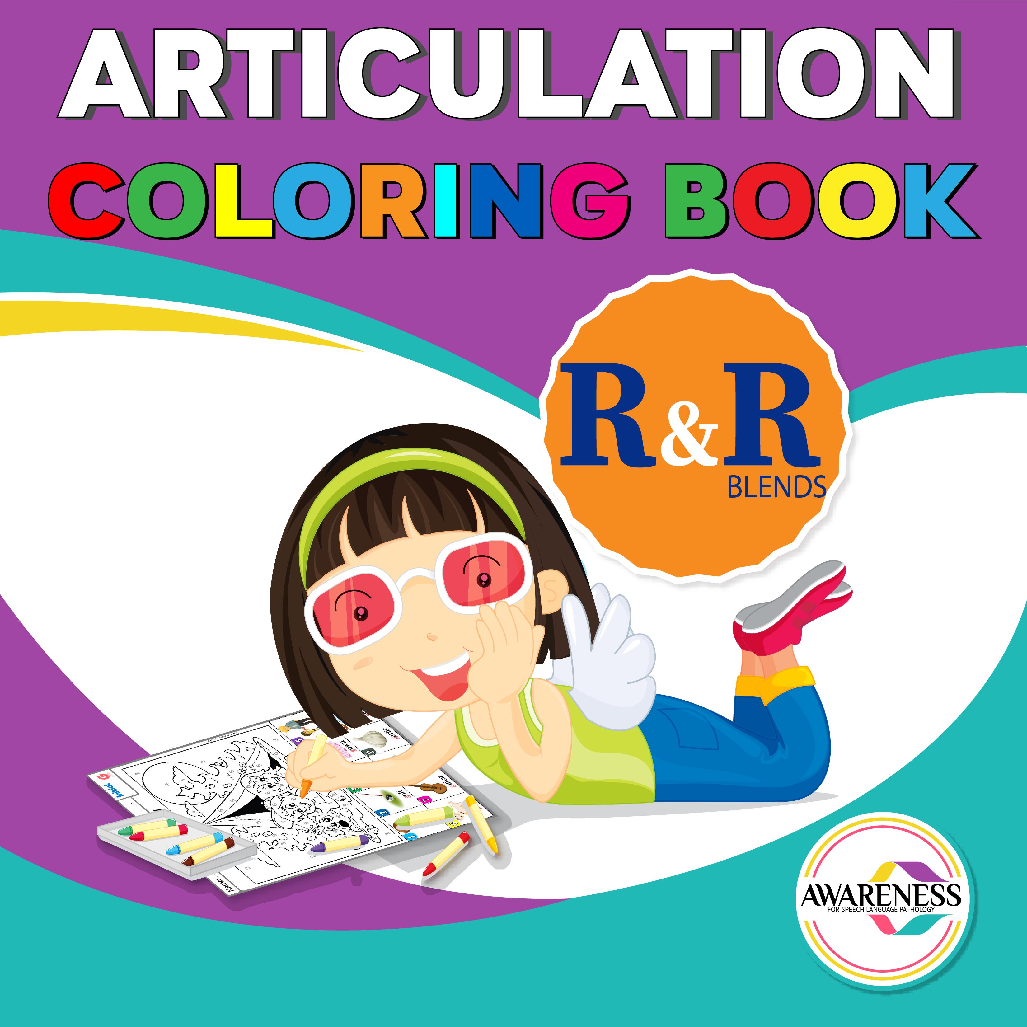 Articulation R Blends Worksheets
