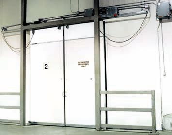 Wilcox Door Model Dse 4fvs 10 X 12 Equipped With Pull Cord Switch And Radio Control Open Time Del Cool Doors Pull Cord Switch Material Handling Equipment