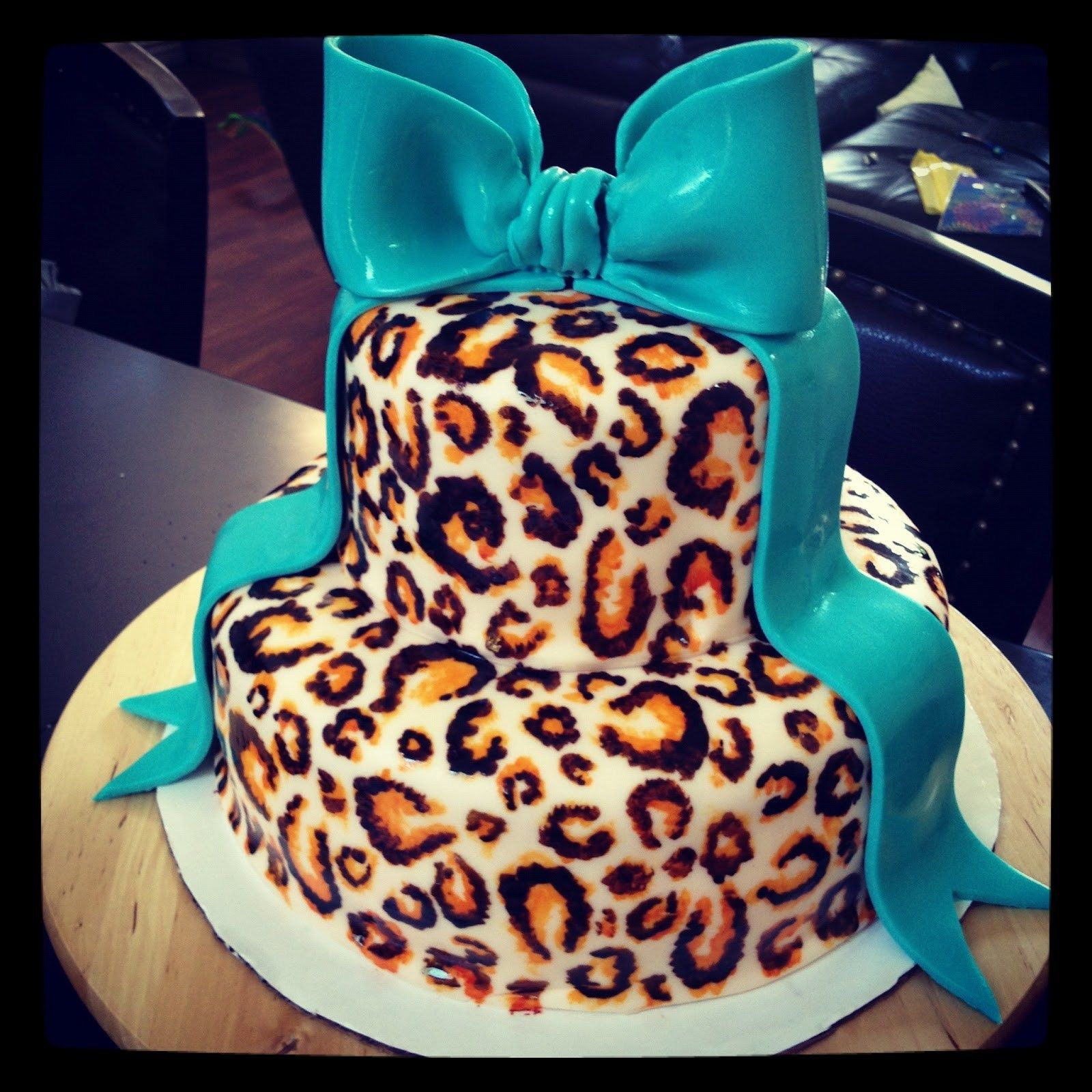 Magnificent 25 Marvelous Photo Of Cheetah Birthday Cake With Images Personalised Birthday Cards Petedlily Jamesorg