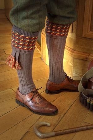 Pennine Fairisle Ladies Knee Length Shooting Socks For Breeks