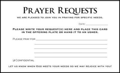 Prayer request cards 50 church artwork pinterest more prayer request and cards ideas for Prayer request cards free printables