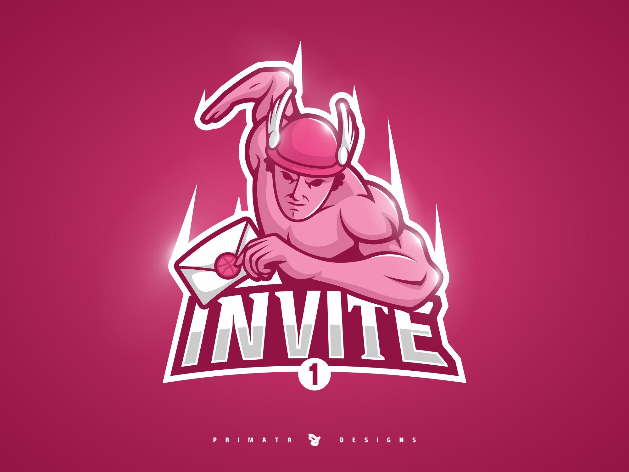 Hermes Dribbble Invite Dribbble Sports Logo Invitations