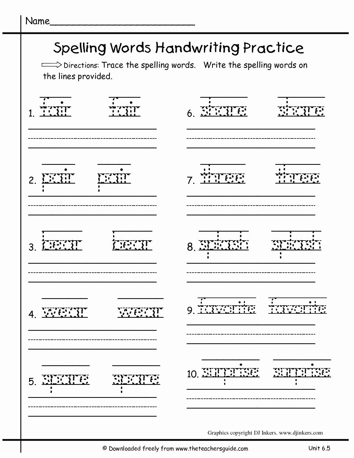 Free 3rd Grade Writing Worksheets Pictures