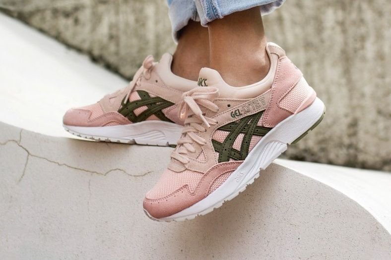 The ASICS GEL-Lyte V Blooms in Pink – Green Stem and All ...