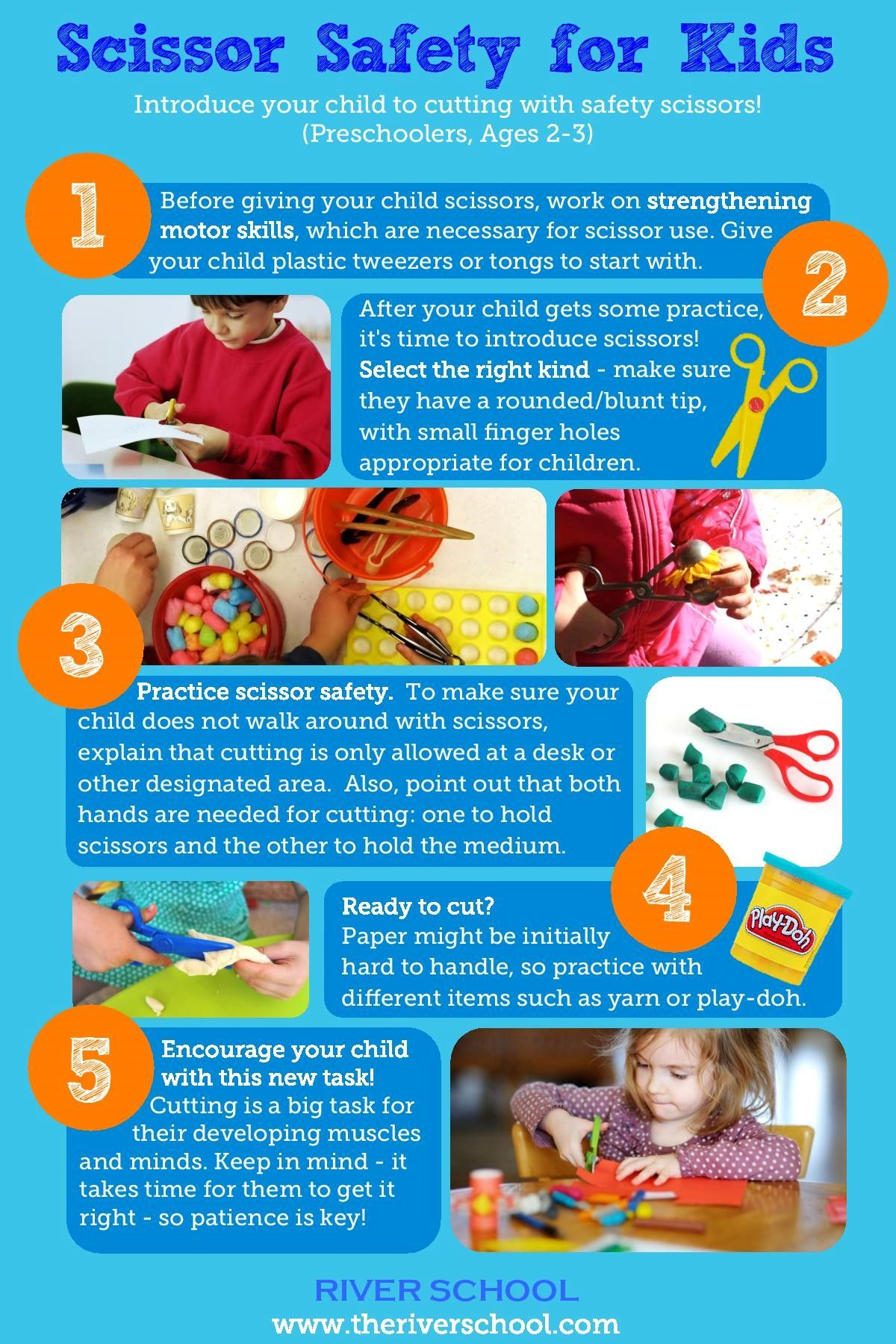 Children In A Pre School Settings Love To Use Scissors During Their